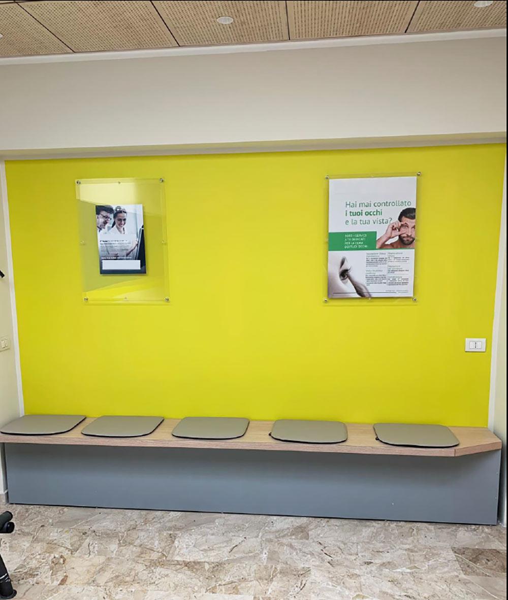 Realizzazione panca per fondazione ospedaliera - Comtec s.r.l. Via Dalmazia 51 20100 Varese